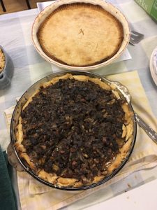 Chicken and venison pies