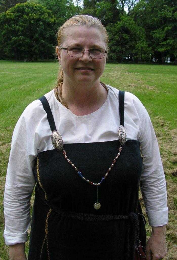 Woman in medieval garb.
