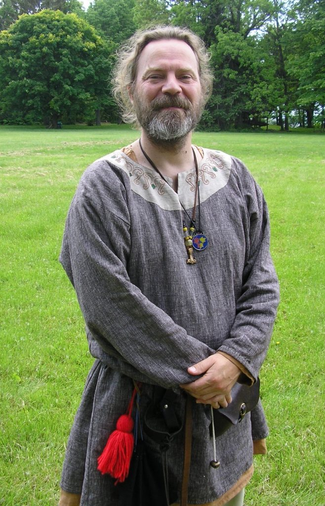 Man in Viking garb.