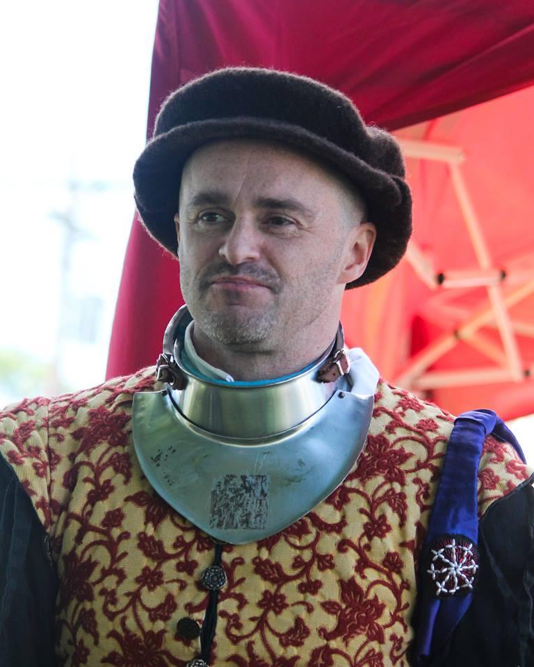 Man in late medieval garb.