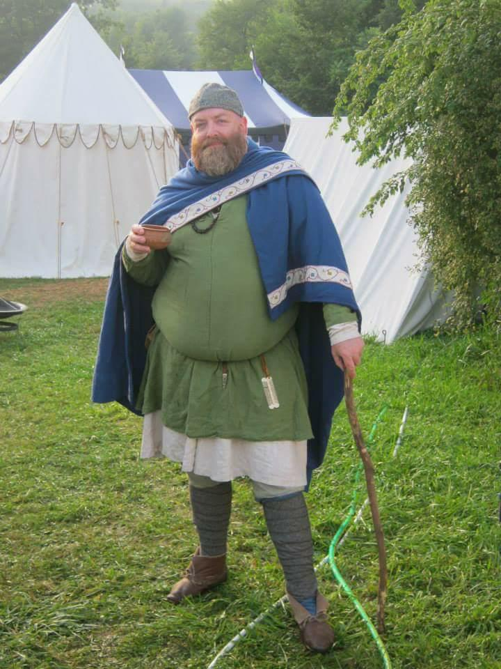 man in medieval clothing